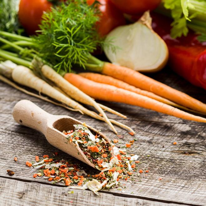 Air-dried vegetables