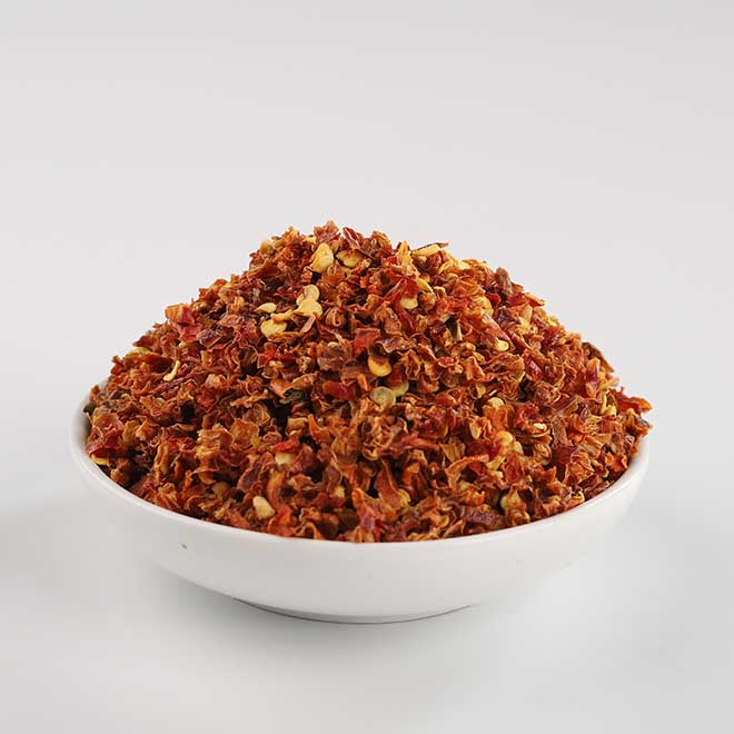 红墨西哥椒碎粒